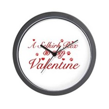 A Selkirk Rex is my valentine Wall Clock