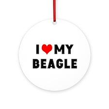 I LUV MY BEAGLE Ornament (Round)