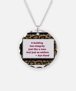 Ayn Rand Quote Necklace
