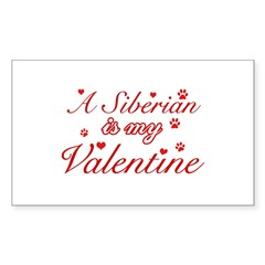 A Siberian is my valentine Decal