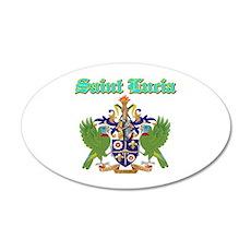 Saint Lucia designs 22x14 Oval Wall Peel