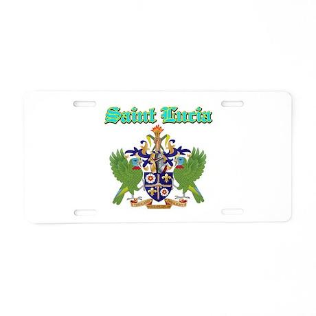Saint Lucia designs Aluminum License Plate