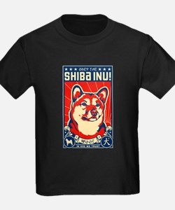 Obey the SHIBA INU!- Ash Grey T-Shirt