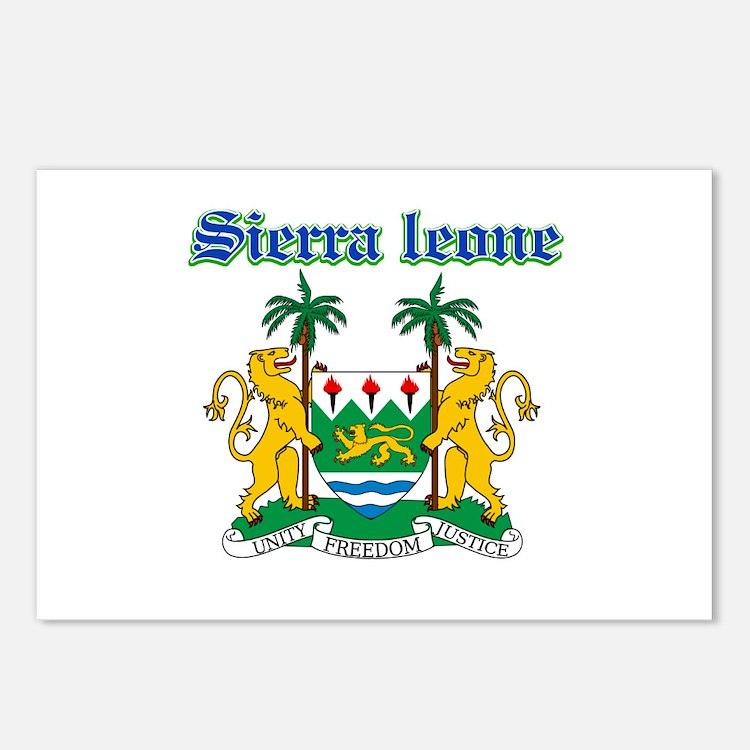Sierra Leone designs Postcards (Package of 8)