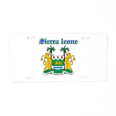 Sierra Leone designs Aluminum License Plate