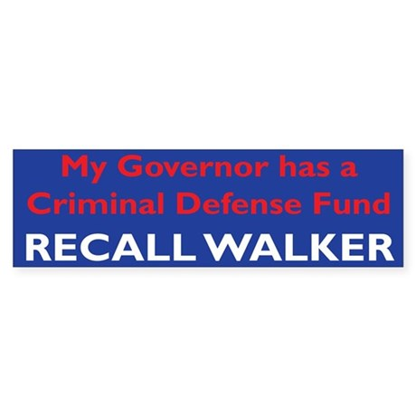 Recall Walker Bumper Sticker Sticker (Bumper)