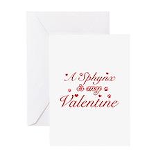 A Sphynx is my valentine Greeting Card