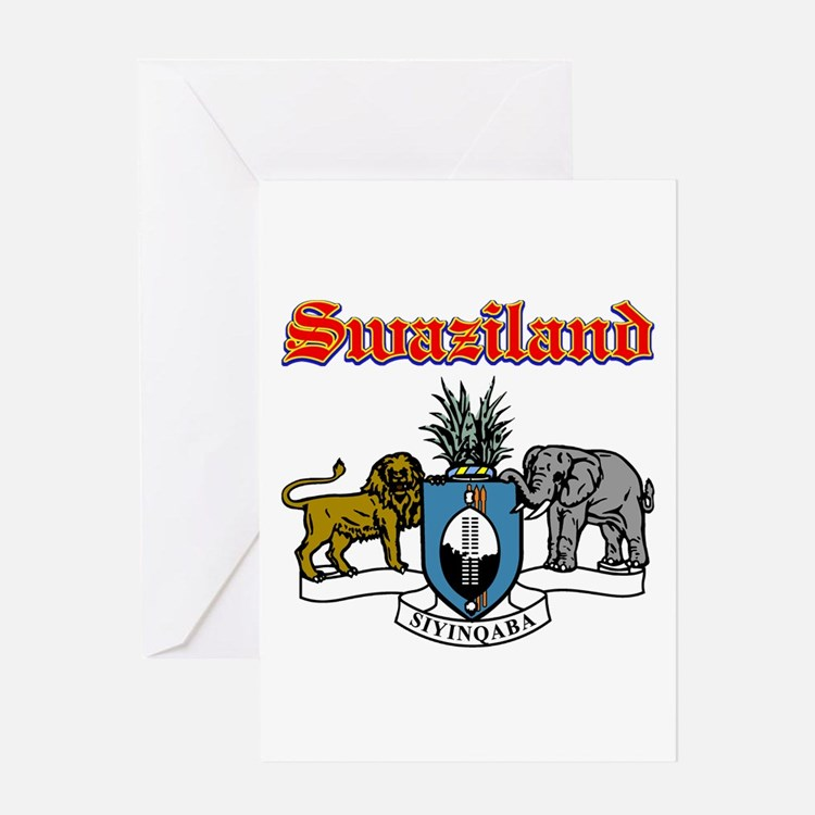 Swaziland designs Greeting Card