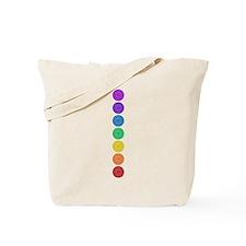 seven chakras vertical center Tote Bag