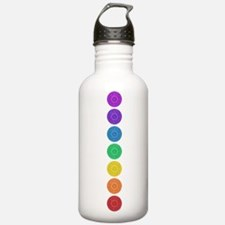 seven chakras vertical center Water Bottle