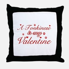 A Tonkinese is my valentine Throw Pillow
