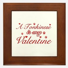 A Tonkinese is my valentine Framed Tile