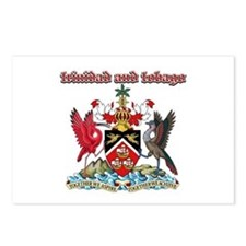 Trinidad And Tobago designs Postcards (Package of
