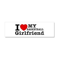 Cool Basketball Girl designs Car Magnet 10 x 3