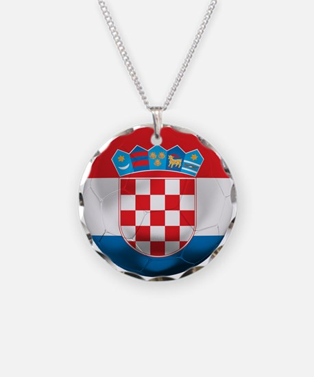 Croatia Football Necklace