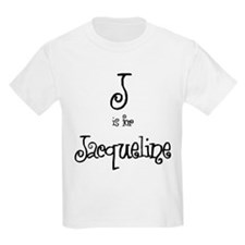 J Is For Jacqueline Kids T-Shirt