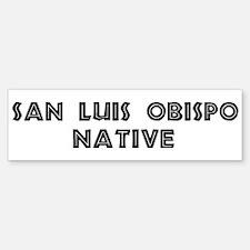 San Luis Obispo Native Bumper Bumper Bumper Sticker