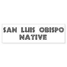 San Luis Obispo Native Bumper Car Car Sticker
