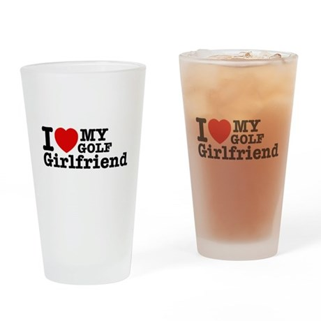 Cool Golf Girlfriend designs Drinking Glass