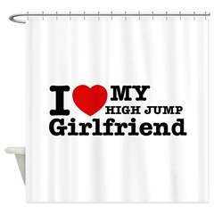 Cool High Jump Girlfriend designs Shower Curtain