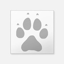 "Wolf Paw Print Square Sticker 3"" x 3"""