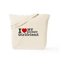 Cool Hockey Girlfriend designs Tote Bag