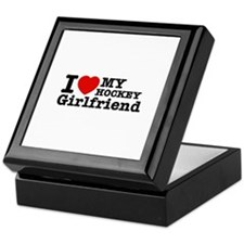 Cool Hockey Girlfriend designs Keepsake Box