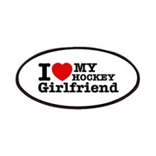 Cool Hockey Girlfriend designs Patches