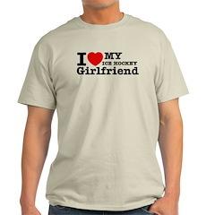 Cool Ice Hockey Girlfriend designs T-Shirt