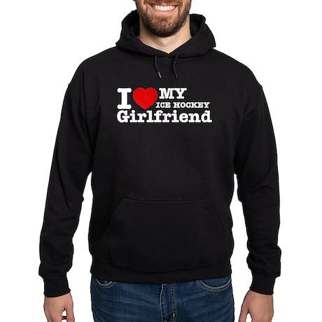Cool Ice Hockey Girlfriend designs Hoodie (dark)