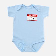 Jim, Name Tag Sticker Infant Bodysuit