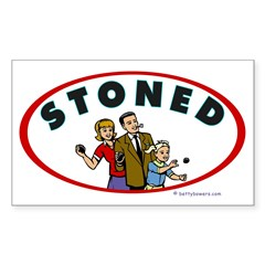 STONED Rectangle Decal