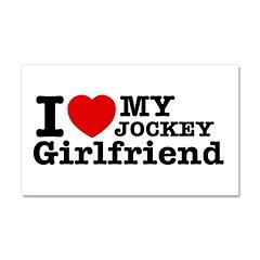 Cool Jockey Girlfriend designs Car Magnet 20 x 12