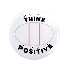 "Think Positive 3.5"" Button (100 pack)"