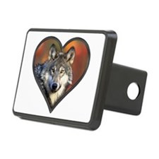 Wolf Heart Hitch Cover