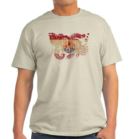 French Polynesia Flag Light T-Shirt
