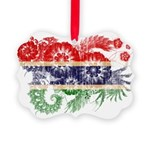 Gambia Flag Picture Ornament