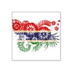 Gambia Flag Square Sticker 3