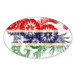 Gambia Flag Sticker (Oval 10 pk)