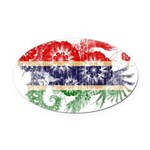 Gambia Flag Oval Car Magnet