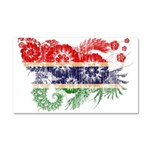 Gambia Flag Car Magnet 20 x 12