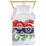 Gambia Flag Twin Duvet