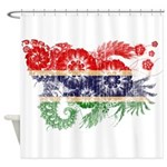 Gambia Flag Shower Curtain