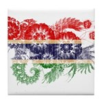 Gambia Flag Tile Coaster