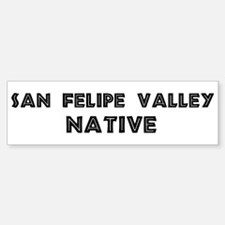 San Felipe Valley Native Bumper Bumper Bumper Sticker