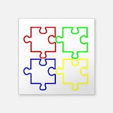 "Autism Awareness Puzzles Square Sticker 3"" x"