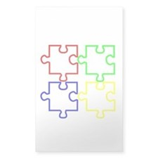 Autism Awareness Puzzles Bumper Stickers