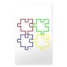 Autism Awareness Puzzles Stickers