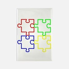 Autism Awareness Puzzles Rectangle Magnet (10 pack