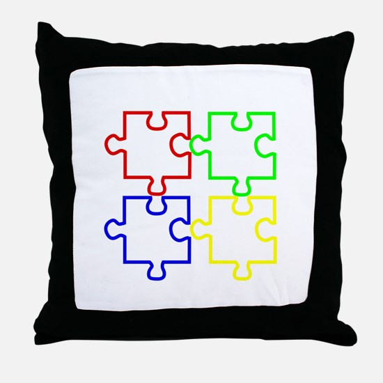 Autism Awareness Puzzles Throw Pillow